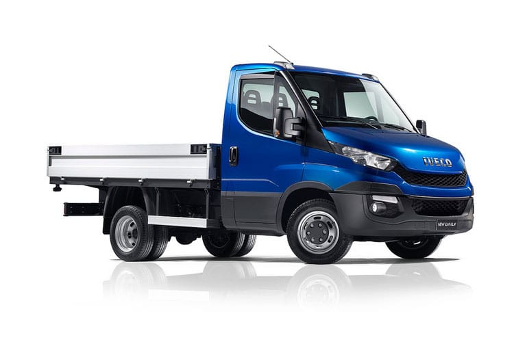 Iveco Daily 35C 3000 DRW 2.3 D HPI 12V DRW 116PS  Dropside Double Cab HiMatic [Start Stop] front view
